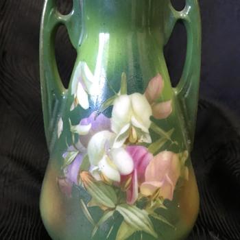 Art Nouveau ceramic vase plus some violets - Art Nouveau