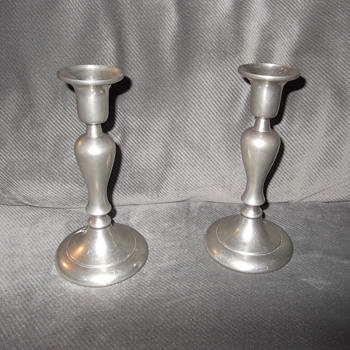 Daalderop Pewter Candlesticks - Lamps