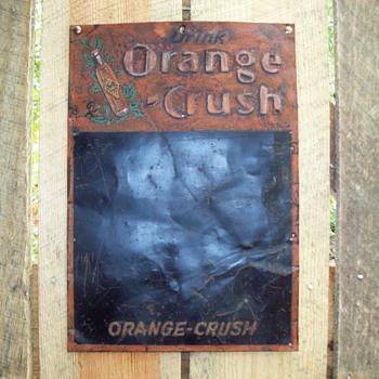 Orange Crush chalk board sign - Signs