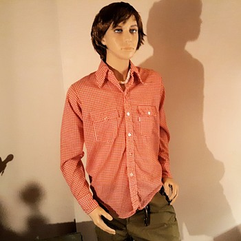Wonderful Western Wednesday Levi's Red Checkered Shirt 1970s - Mens Clothing
