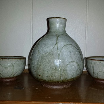 "Sake Set ""Another Mystery Mark"" - Pottery"