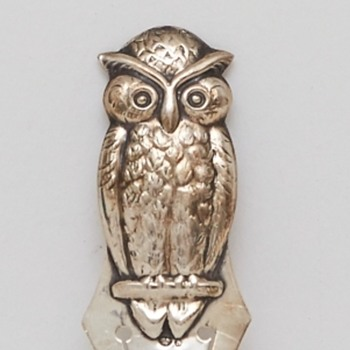 Silver Owl Bookmark (Sweden), ca. 1920 - Books