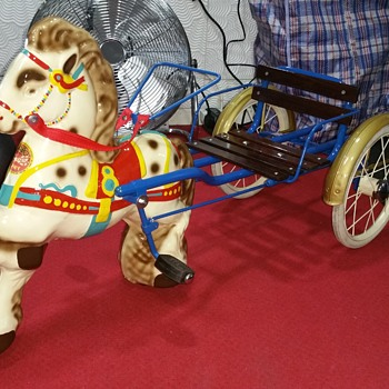 One of my favourite MOBO SULKY metal pedal toy 1950's - Toys