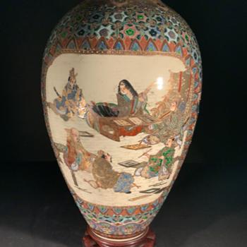 Kinkozan Vase Meiji period. - Asian