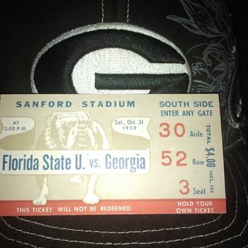 1959 UGA vs FL State - Football