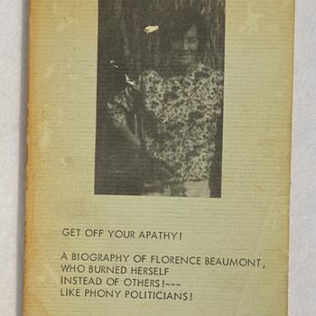 Florence Beaumont, self-immolation, & Vietnam War protest - Books