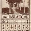 FLORIDA PALMS AND SUNSHINE 1927 CALENDAR