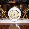 White Alabaster Male Figural New Haven Clock, 1925-30