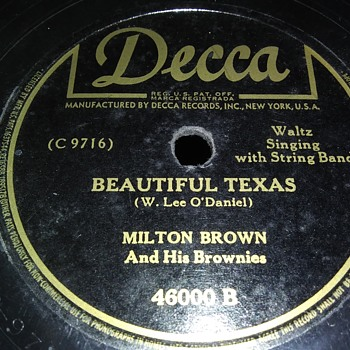 MILTON BROWN AND HIS BROWNIES - Records