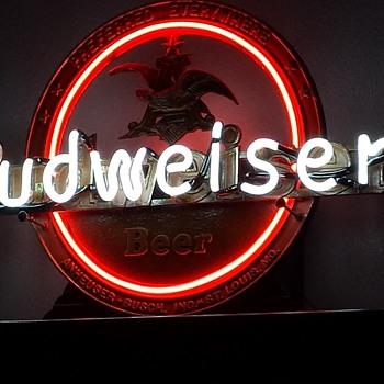 1940's budweiser cast iron neon - Breweriana