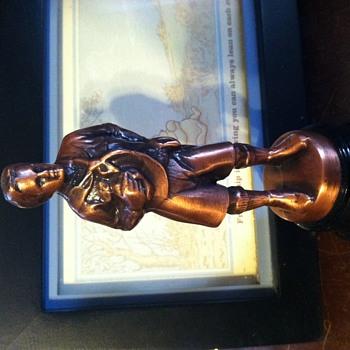 Boy Scout copper statue