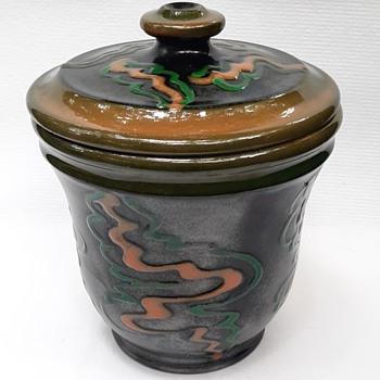 Herman A. Kahler lidded stoneware pot date? - Pottery