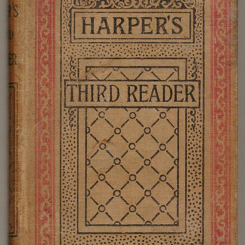 1888 - Harper's Third Reader Schoolbook - Books