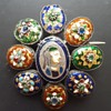 Antique silver Bressans enamels brooch, KYRATISED.