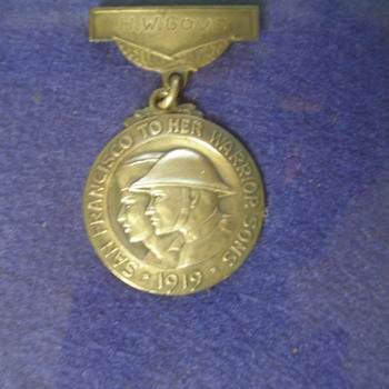 My Grandfathers WW1 Sterling Silver Service Medal