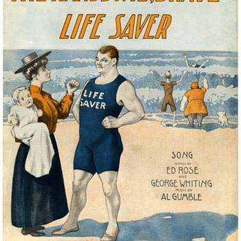 When You Went To The Beach To Bathe!  FUNNY  Sheet music, 1907 - Music Memorabilia