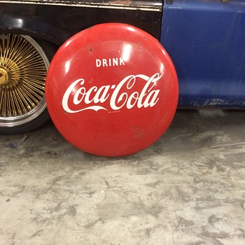 "24"" Coca Cola Button 1950's - Coca-Cola"