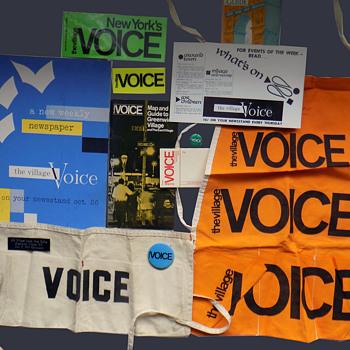 Daniel List's Village Voice Hippie Underground Newspaper Memorabilia - Advertising