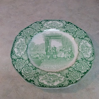 WASHINGTON  AND LAFAYETTE AT MOUNT VERNON PLATE - China and Dinnerware