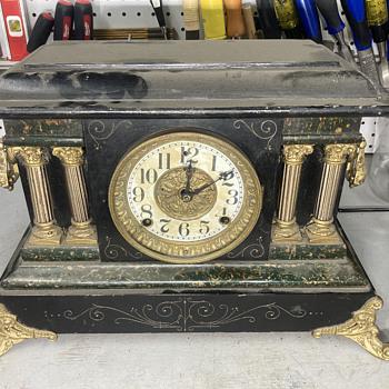 1800's era - Welch/ Seth Thomas marriage clock part 3 - final - Clocks