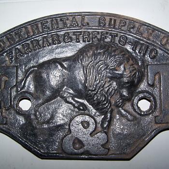 Farrar & Trefts Pre 1900 cast iron boiler name plate - Petroliana