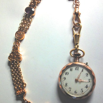 1900s Swiss Pocket Watch Silver/Vermeil (Silver plated with Pink Gold)  - Pocket Watches