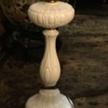 Milk glass Banquet lamp - Lamps