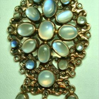 Antique Moonstone Pendant Edwardian - Fine Jewelry