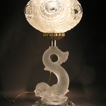Baccarat Mermaid Table Lamp