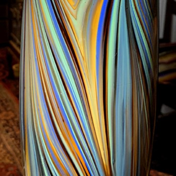 Tall Blown Glass Vase from China - Art Glass