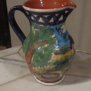 "Olaria António Janeiro, São Pedro do Corval"" Art Pottery Pitcher Portugal - Pottery"