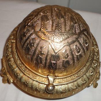 Gold Tone Egyptian Compote? - Art Nouveau