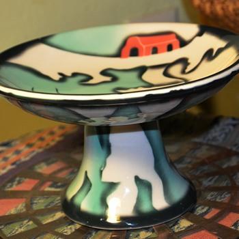 Odd little Compote - American Regionalist Design? - Pottery