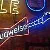 Original Budweiser neon guitar