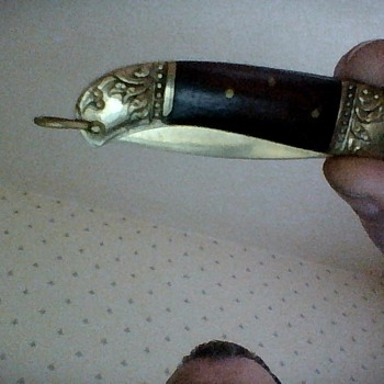 vintage brass pen knife