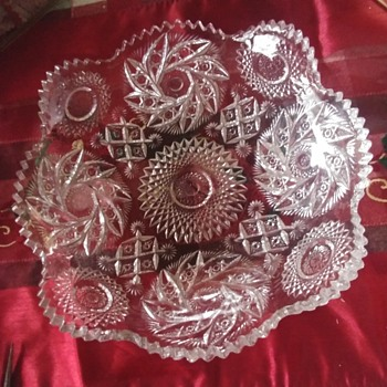 Pinwheel pattern glass - Glassware