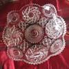 Pinwheel pattern glass