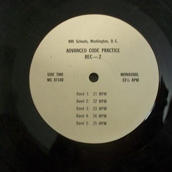 Vintage Album / Record:  NRI Schools, Washington, DC; Advanced Code Practice  - Records