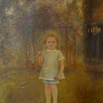 """Julien Celos """"Portrait Of A Girl With Bow And Arrows"""" Dated April 9, 1919 - Fine Art"""