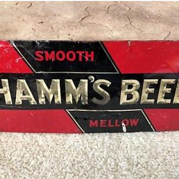 Early Hamms Beer Sign - Breweriana