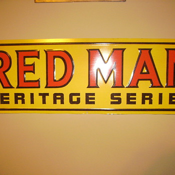 Red Man Haratage Series Sign - Signs