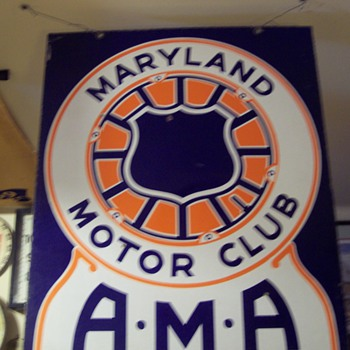 MARYLAND MOTOR CLUB AMA SIGN