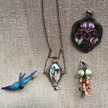 Meyle & Mayer and Two Enamel Pendants - Fine Jewelry