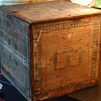 Vintage 1894 Tea Shipping Crate From China
