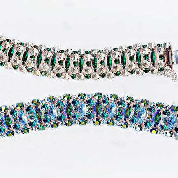 Exquisite Rare Signed Sherman Bracelets From Collection Of Sandra Caldwell - Art Deco