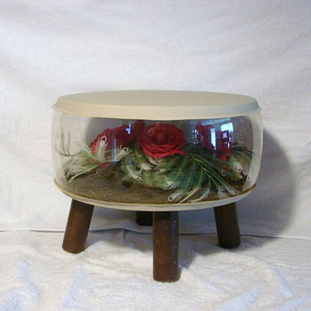 Vintage Inflatable Retro Terrarium Footstool  - Furniture