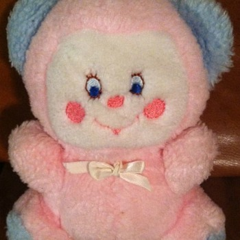 Vintage Pink Blue Teddy - Dolls