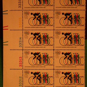 1972 XX Olympic Summer Games - Munich Stamps - Stamps