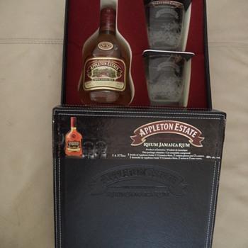 Appleton Estate Jamaica Rum, 2 Glasses Set, 2 Coasters - Bottles