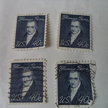 Thomas Paine 1968, 40cents US Stamp